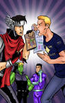 Young Avengers/Subject to Change Crossover Colors by Kittensoft