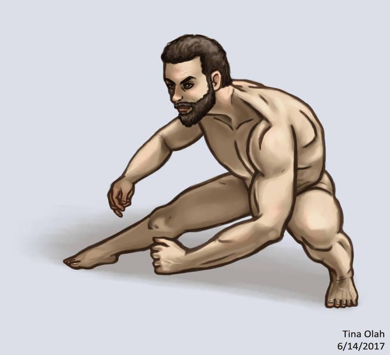 A Naked Guy by Kittensoft