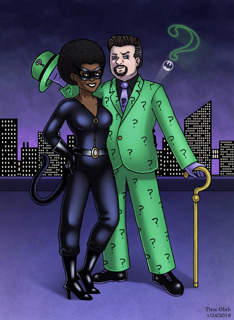 Natko as Catwoman and The Riddler by Kittensoft