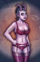 Devil Girl in Lingerie by SuperEdco