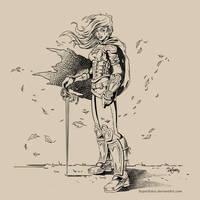 Swordswoman by SuperEdco