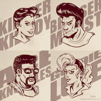 Rockabilly Beatdown Hero Portraits by SuperEdco