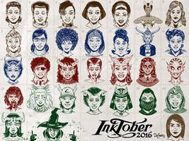 All of Inktober 2016! by SuperEdco