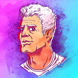 Anthony Bourdain RIP by SuperEdco