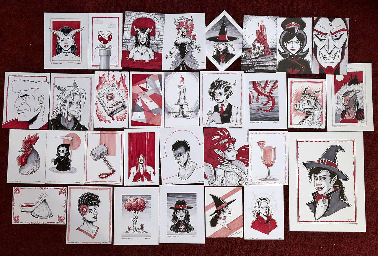 Inktober 2018 Original Art for Sale by SuperEdco