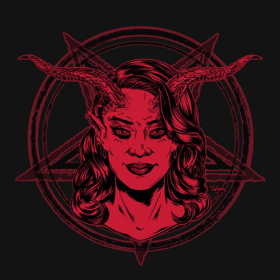 Demoness Pentagram by SuperEdco