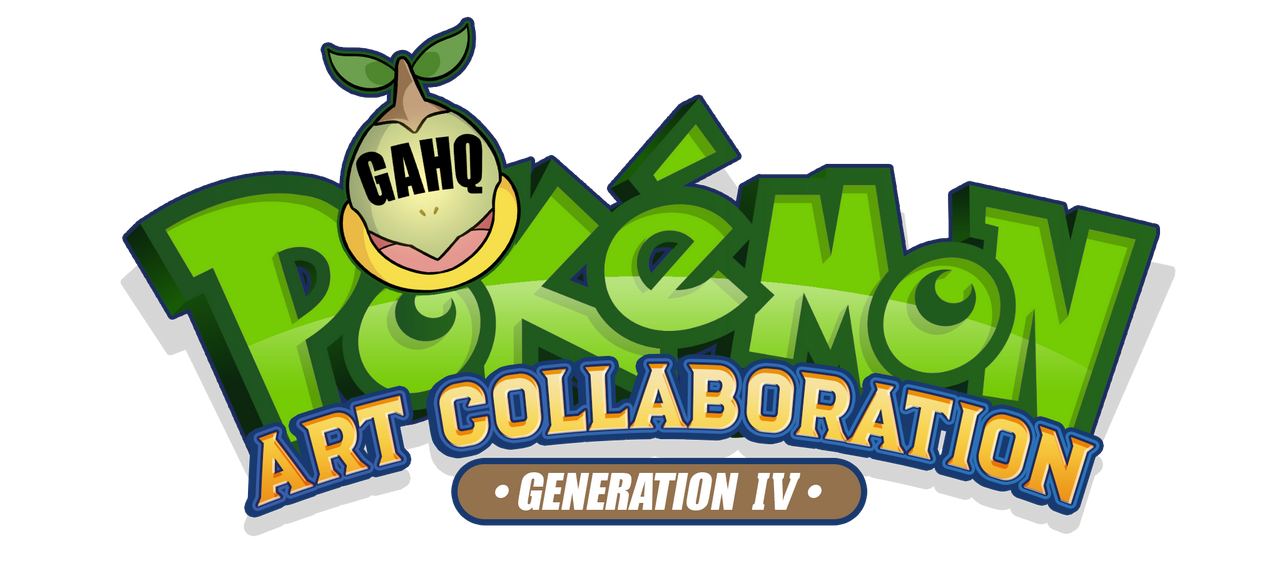Pokemon Gen IV Art Collaboration Logo by SuperEdco