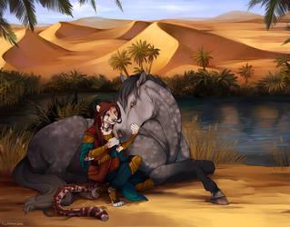 Traveler's Respite by aureath