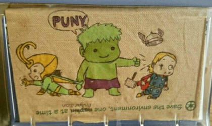 Puny napkin art by immortalbutterflyTKP