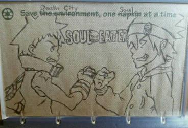 Soul Eater napkin art by immortalbutterflyTKP