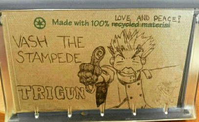 Made With 100% Love and Peace! napkin art by immortalbutterflyTKP