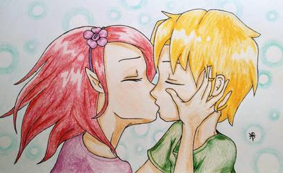 kiss by immortalbutterflyTKP