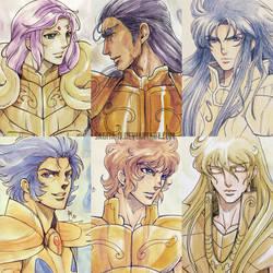 Gold Saints 1 by Sagita-D