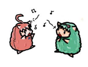 Gumi and Miki Sheep by FoxIt-girl