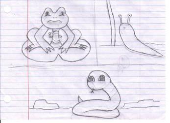 The Frog, The Snake, The Slug by ShadowFox710