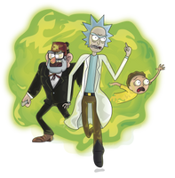 Rick, Morty And Stan png by Lalingla