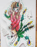 My fursona, Likra  by LunaTheLastMusicFury