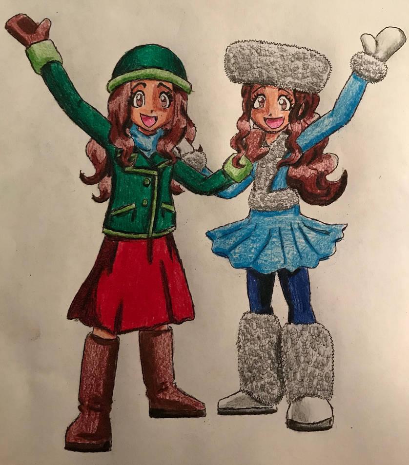 mimi twins 2 winter wear by bozzerkazooers on deviantart