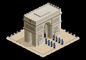 Arc de Triomphe by jujucece
