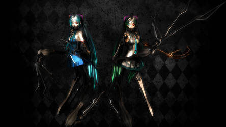 The Twin Calne's 2 [MMD] by HandofCreation0