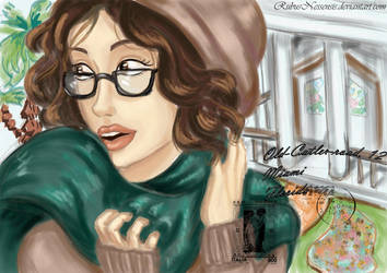 Lady in green scarf by RubusNessensis