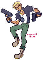 COMMISSION: Gun Man by Cubesona
