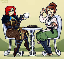 COMMISSION: Dragon Age Tea Party by Cubesona