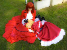 Elizabeth and angelina by Giambu