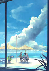 the beach cafe. by megatruh