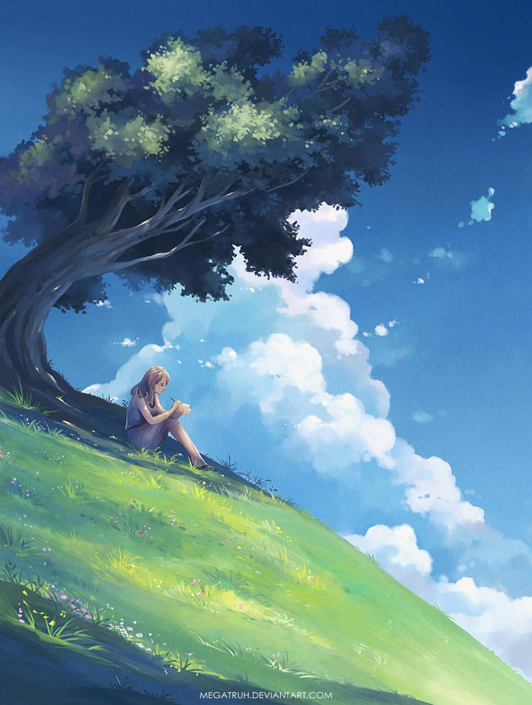 under a tree, upon a hill by megatruh