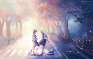 Usagi and Ami by megatruh