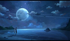 les amoureux de la lune by megatruh
