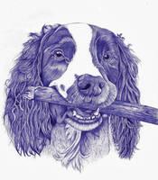 Dog ballpoint pen 4 by DrawingNynke