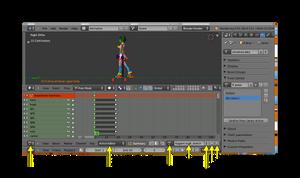 Multiple animations in the same file (Blender Tut) by eelstork