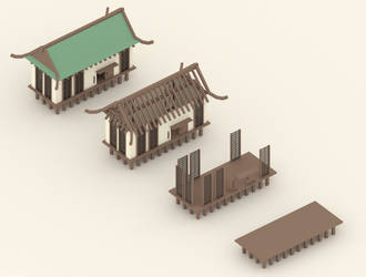 Asian style pavilion by eelstork