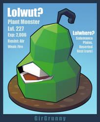 RPG Bestiary: Biting Pear by GirGrunny