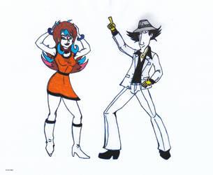 Stephanie and Lieutenant Gadget by 4M1R