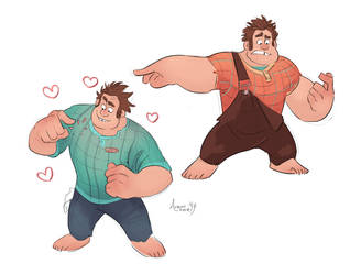 Drawin' big boys by GreekCeltic