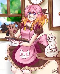 Kuu and Kitties by PastelPyon