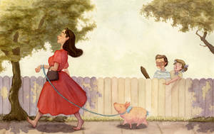 A Stroll with Petunia by Deirling