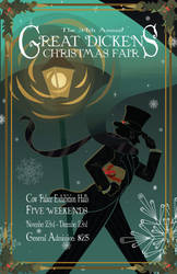 The Great Dickens Christmas Faire Poster by Deirling