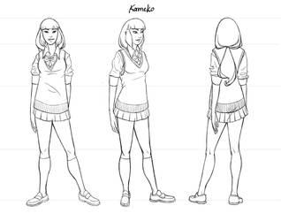 Kameko Turn-Around Sheet by Deirling