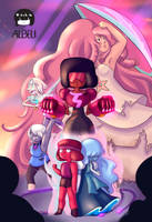 Steven Universe - Crystal Gems by albeli-chan