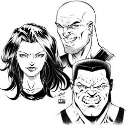 Inking The Bad Guys And Girls Of Comics By Robert by macacaralho