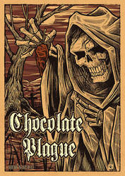 Chocolate Plague Hot Sauce label by kitster29