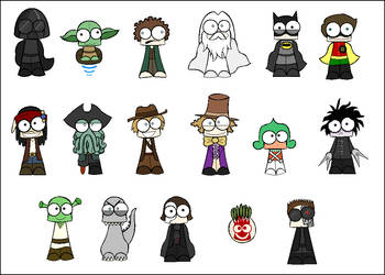 17 Movie Characters by TheFreakyOne