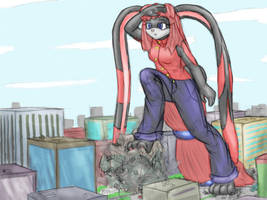to see over the city by Metal-2
