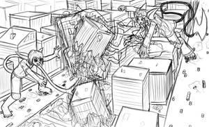 giant pokemon battle o_o by Metal-2