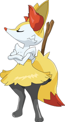 654 - Braixen by luigicuau10