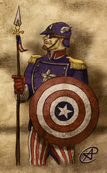 Steampunk Captain America by photon-nmo